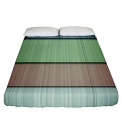Lines Stripes Texture Colorful Fitted Sheet (california King Size)