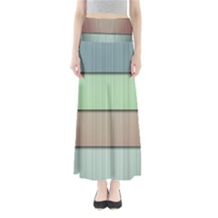 Lines Stripes Texture Colorful Maxi Skirts