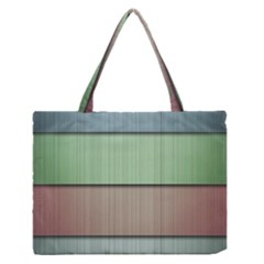 Lines Stripes Texture Colorful Medium Zipper Tote Bag by Simbadda