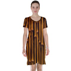 Abstract Bamboo Short Sleeve Nightdress