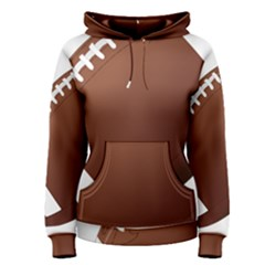 Football American Sport Ball Women s Pullover Hoodie