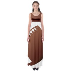Football American Sport Ball Empire Waist Maxi Dress