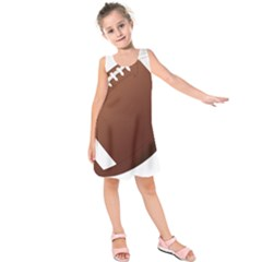 Football American Sport Ball Kids  Sleeveless Dress