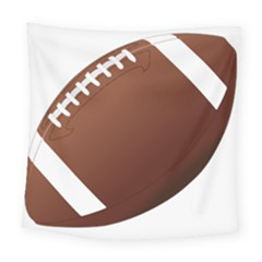 Football American Sport Ball Square Tapestry (large) by Alisyart