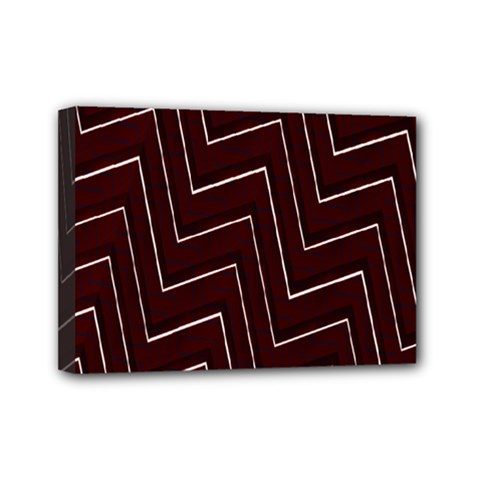 Lines Pattern Square Blocky Mini Canvas 7  X 5  by Simbadda