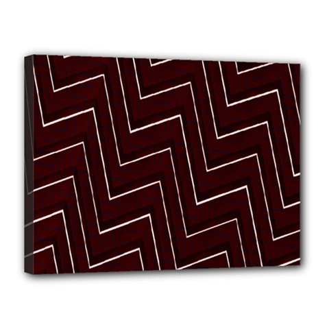 Lines Pattern Square Blocky Canvas 16  X 12  by Simbadda