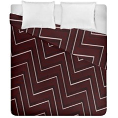 Lines Pattern Square Blocky Duvet Cover Double Side (california King Size) by Simbadda