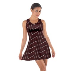 Lines Pattern Square Blocky Cotton Racerback Dress