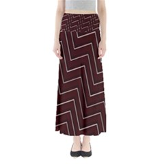 Lines Pattern Square Blocky Maxi Skirts