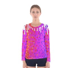 Square Spectrum Abstract Women s Long Sleeve Tee by Simbadda