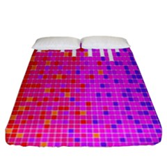 Square Spectrum Abstract Fitted Sheet (king Size) by Simbadda