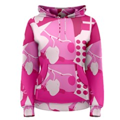 Flower Floral Leaf Circle Pink White Women s Pullover Hoodie