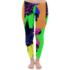 Flower Pop Sunflower Classic Winter Leggings