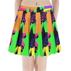 Flower Pop Sunflower Pleated Mini Skirt