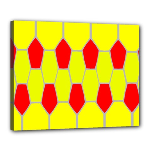 Football Blender Image Map Red Yellow Sport Canvas 20  X 16