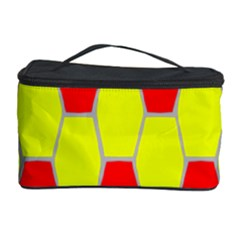 Football Blender Image Map Red Yellow Sport Cosmetic Storage Case by Alisyart