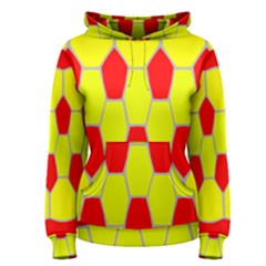 Football Blender Image Map Red Yellow Sport Women s Pullover Hoodie