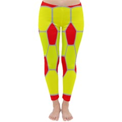 Football Blender Image Map Red Yellow Sport Classic Winter Leggings
