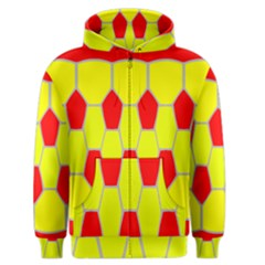 Football Blender Image Map Red Yellow Sport Men s Zipper Hoodie