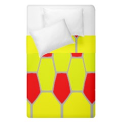 Football Blender Image Map Red Yellow Sport Duvet Cover Double Side (single Size)