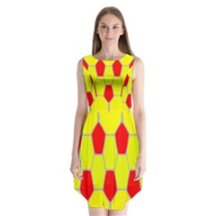 Football Blender Image Map Red Yellow Sport Sleeveless Chiffon Dress