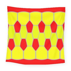Football Blender Image Map Red Yellow Sport Square Tapestry (large)