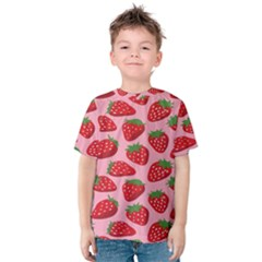 Fruit Strawbery Red Sweet Fres Kids  Cotton Tee