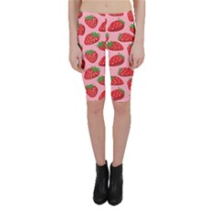 Fruit Strawbery Red Sweet Fres Cropped Leggings