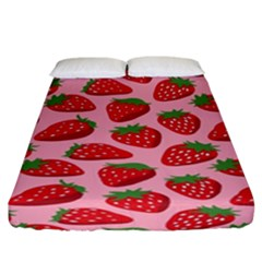 Fruit Strawbery Red Sweet Fres Fitted Sheet (california King Size)