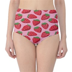Fruit Strawbery Red Sweet Fres High Waist Bikini Bottoms by Alisyart
