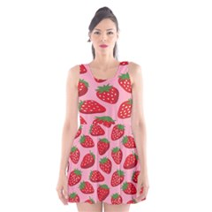 Fruit Strawbery Red Sweet Fres Scoop Neck Skater Dress