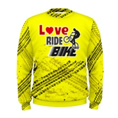 Love Ride Bike Fitness  Men s Sweatshirt by PattyVilleDesigns