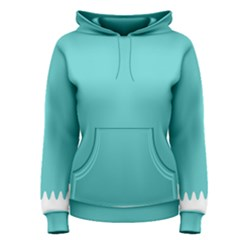 Grey Wave Water Waves Blue White Women s Pullover Hoodie