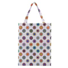 Flowers Color Artwork Vintage Modern Star Lotus Sunflower Floral Rainbow Classic Tote Bag by Alisyart