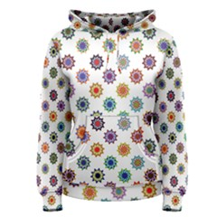 Flowers Color Artwork Vintage Modern Star Lotus Sunflower Floral Rainbow Women s Pullover Hoodie