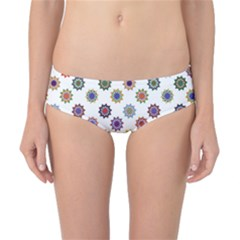 Flowers Color Artwork Vintage Modern Star Lotus Sunflower Floral Rainbow Classic Bikini Bottoms
