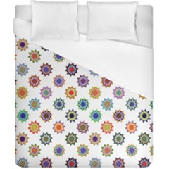 Flowers Color Artwork Vintage Modern Star Lotus Sunflower Floral Rainbow Duvet Cover (california King Size) by Alisyart