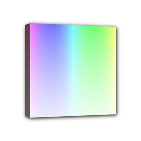 Layer Light Rays Rainbow Pink Purple Green Blue Mini Canvas 4  X 4