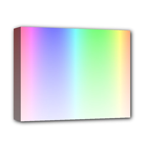 Layer Light Rays Rainbow Pink Purple Green Blue Deluxe Canvas 14  X 11  by Alisyart