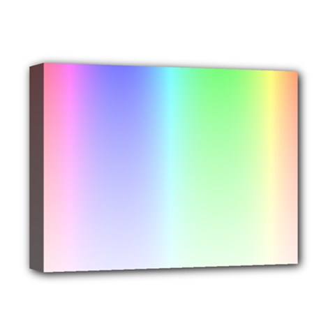 Layer Light Rays Rainbow Pink Purple Green Blue Deluxe Canvas 16  X 12   by Alisyart