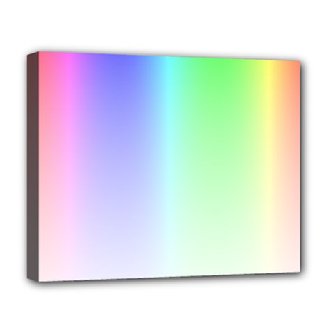 Layer Light Rays Rainbow Pink Purple Green Blue Deluxe Canvas 20  X 16