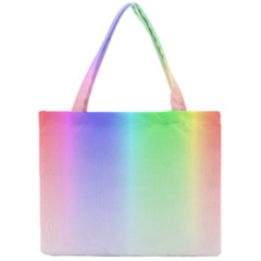 Layer Light Rays Rainbow Pink Purple Green Blue Mini Tote Bag by Alisyart