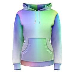 Layer Light Rays Rainbow Pink Purple Green Blue Women s Pullover Hoodie