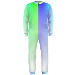 Layer Light Rays Rainbow Pink Purple Green Blue Onepiece Jumpsuit (men)