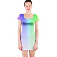Layer Light Rays Rainbow Pink Purple Green Blue Short Sleeve Bodycon Dress