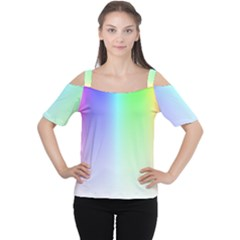 Layer Light Rays Rainbow Pink Purple Green Blue Women s Cutout Shoulder Tee by Alisyart