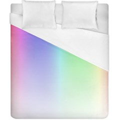 Layer Light Rays Rainbow Pink Purple Green Blue Duvet Cover (california King Size)