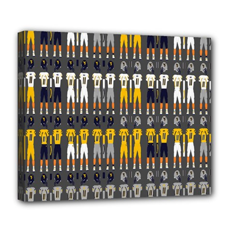 Football Uniforms Team Clup Sport Deluxe Canvas 24  X 20   by Alisyart