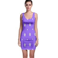 Light Purple Flowers Background Images Sleeveless Bodycon Dress by Alisyart