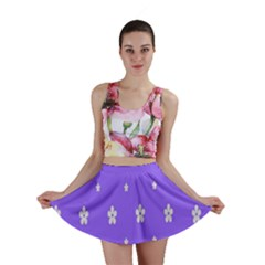 Light Purple Flowers Background Images Mini Skirt by Alisyart